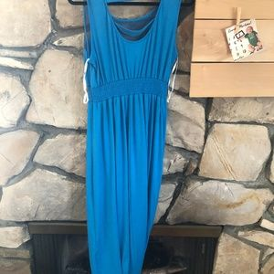 Wrapper Dresses - Wrapper Blue Midi-Dress